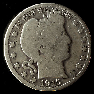 1915-S Barber 90% Silver Half Dollar Ships Free. Buy 5 for $2 off
