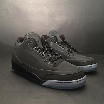 dac7e10a737b77 Air Jordan 3 Retro 5Lab3 Black 631603-010 Men US Size 11