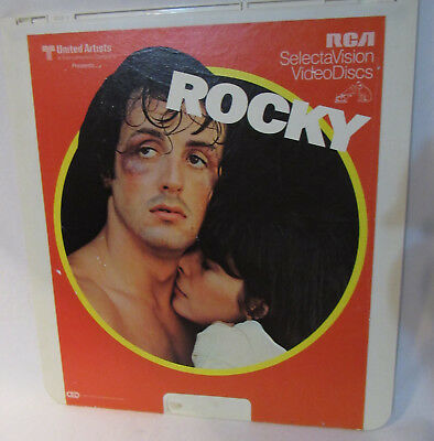 ROCKY united artist RCA Video Discs CED Movie 1976