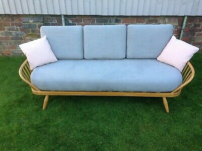 Ercol Studio Couch Brand New Webbing And Upholstery Stunning Example