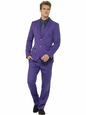Adult Comedy Funny Purple Stand Out Suit Mens Fancy Dress Stag Party Costume