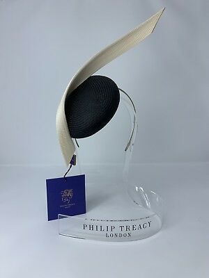 6db82cc720956 NWT PHILIP TREACY Black Fascinator w  Rose   Black Pinwheel Design ...