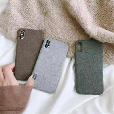 For iPhone XS Max XR X 8 Luxury Matte Fabric Grain Slim Soft Silicone Case Cover