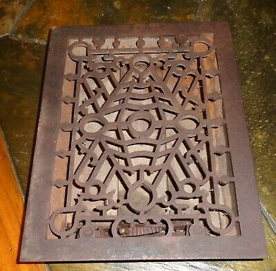 Antique Heat Register GRATE Vent Cast Iron ORNATE Beautiful!!!