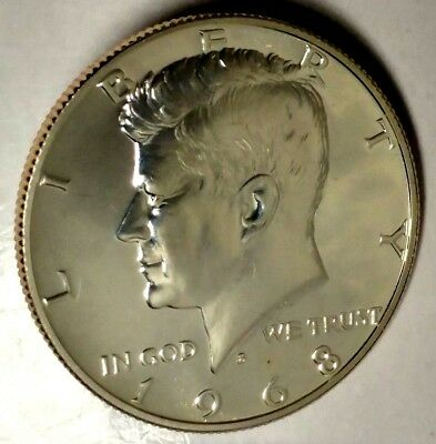 1968-S 50C Kennedy Half Dollar 18oct0723 40% Silver Gem Proof 50 Cents Shipping