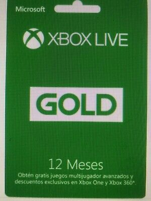 Xbox Live Gold  12 Meses(Eu) Se Envia Codigo Digital + Regalo 1 Mes Game Pass