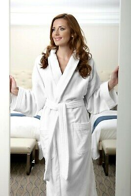 NEW Terry Lined Combed Cotton Hotel Luxury Spa Bathrobe Monarch Cypress w logo