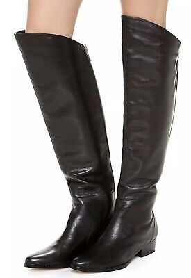 4c7b04c0b23 DOLCE VITA WOMEN 6.5 Boots Black Leather Over The Knee Made Italy ...