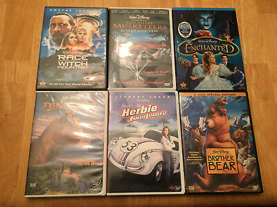 Disney (6) Movie DVD LOT (see photo and description)