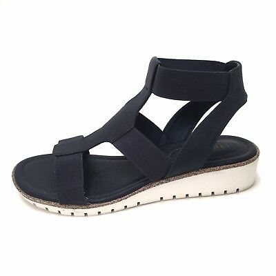 b46193cef3ac Sofft By Euro Soft Women s Wedge Sandal Shoes Navy Sz 6.5 M 3128747 Elastic