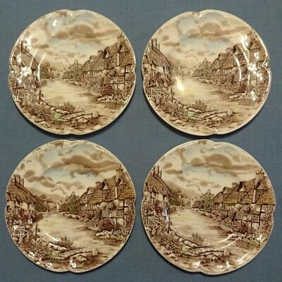 "Johnson Brothers Olde English Countryside ENGLAND 6 3/8"" Bread & Butter Plates"
