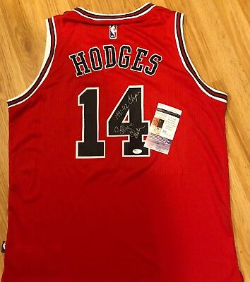 e858cb358d6 Craig Hodges Signed Autographed Chicago Bulls Basketball Jersey Photo Jsa