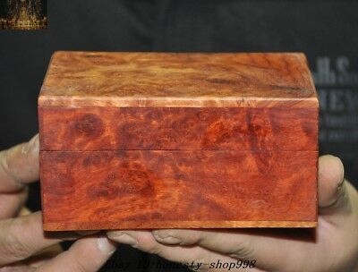 Old Chinese Ancient Huanghuali Wood Carved Handball Massage Health Care Ball Box