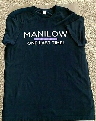Barry Manilow One Last Time 2016 Tour Concert T-Shirt black tee Adult XL Music