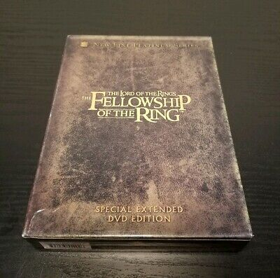 The Lord of the Rings: The Fellowship of the Ring - DVD, 2002, 4-Disc Set