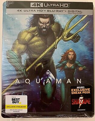 Dc Aquaman 4K Ultra Hd Blu Ray 2 Disc Set Best Buy Exclusive Steelbook Free Ship
