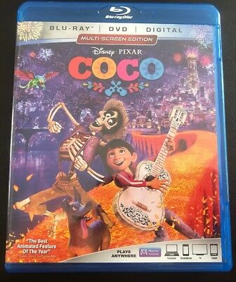 Disney Coco, Blu Ray + DVD + 2hrs of Bonus! Like New, watched once.