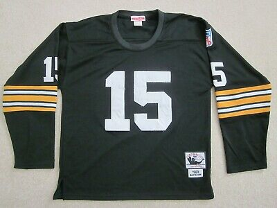 92abecf4e Bart Starr GREEN BAY PACKERS Mitchell Ness 1969 Throwback 50 YEARS Jersey  48 /XL