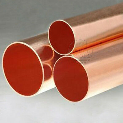 Select Diameter 8mm - 15mm Hard Straight Type Copper Pipe/Tube L:100 - 600mm