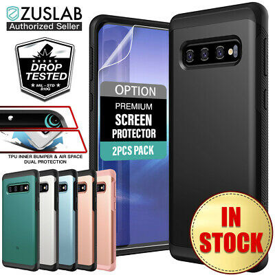Samsung Galaxy S10 case S10 Plus Case ZUSLAB Hybrid Shield Shockproof Slim Cover