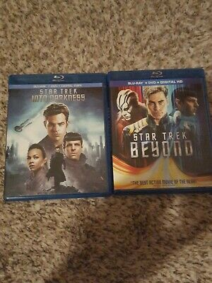 Star Trek Into Darkness and Beyond  Blu-Ray+DVD  Combos Like New