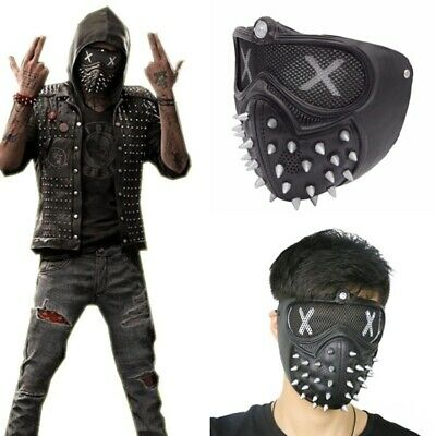 Punk rivet Holloway Wrench Cosplay Rivet Face Mask Punk Gothic demon Face Mask