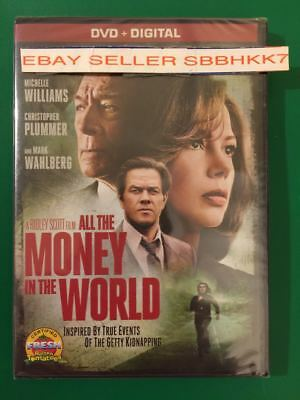 All The Money In The World DVD + DIGITAL  Brand New Free Shipping NO TAX
