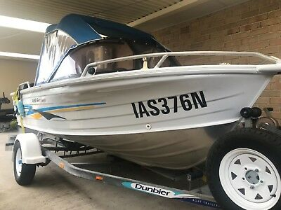 QUINTREX 420 getaway runabout boat with 40HP YAMAHA OIL INJECTED OUTBOARD MOTOR