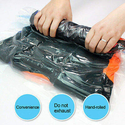 Vacuum Seal Waterproof Clothes Storage Bags Packing Cube Travel Organizer Pouch