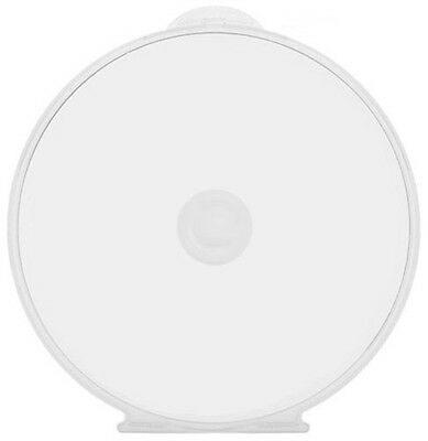 Clear Plastic DVD CD Clam Shell Covers Flexible Round Slim 5mm Poly Cases