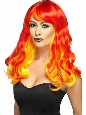 Adult Sexy Flame Devil Wig Ladies Halloween Party Fancy Dress Costume Accessory