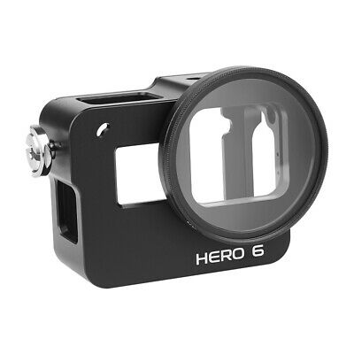 Black CNC Metal Protective Case Skeleton Shell with Back Door for GoPro Hero 6 7