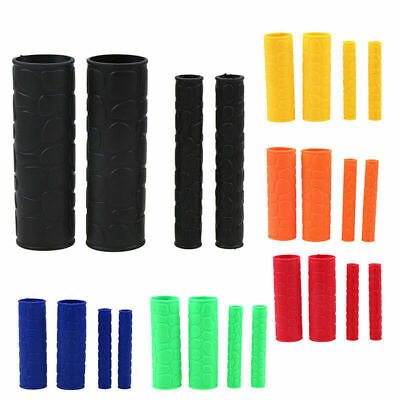 2 Pair Motorcycle Scooter Bikes HandleBar Grip + Brake Clutch Lever Rubber Cover