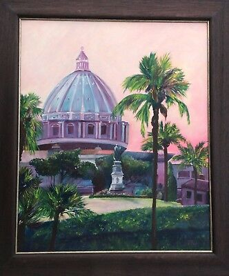 Vatican, Oil painting, framed, ready to hang.