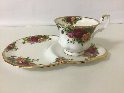 Royal Albert Old Country Roses Tennis Set ,With Good Match Spoon