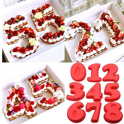 Silicone Fondant Pastry Mold Cake Number Mould Baking Making Tool Decor DIY