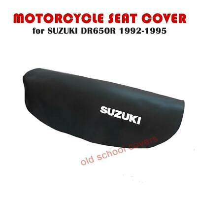 SUZUKI DR650 R DR650R 1992-1995 BLACK SEAT COVER with WHITE LOGOS DR650