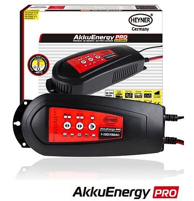 HEYNER AkkuEnergy electronic compact car battery charger 30-130  Ah 12V 6-stage