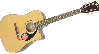 Fender FA-125CE Dreadnought Natural  Electric-Acoustic Guitar