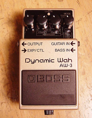Boss AW-3 Auto-Wah Guitar Effect Pedal Used in Japan