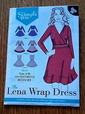 Simple Sew Easy Fit Wrap Dress UK sizes 6-22 (US 2-18) new and unused free p&p