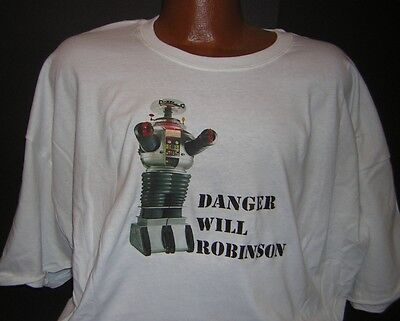 """Lost in Space /""""Danger Will Robinson/"""" Mens Unisex T-Shirt Available Sm to 2x"""