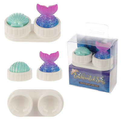 Handy Contact Lens Case - Mermaid fin tail and seashell design
