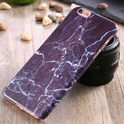 Shockproof Ultra Thin Marble Purple Shell Case Cover For iPhone 6 Plus / 6s Plus