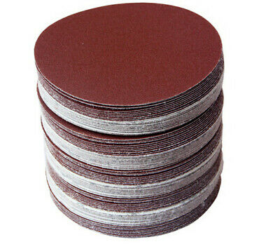 50pcs 3 Inch 320-2000 Grit Round Hook And Loop Flocking Polishing Sandpaper Disc