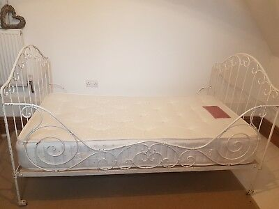 Stunning French Antique Cast Iron Daybed