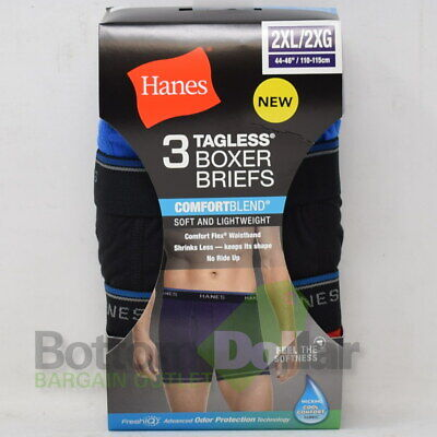 Hanes Men's 3 Pack FreshIQ Tagless Lightweight ComfortBlend Boxer Brief (2XL)