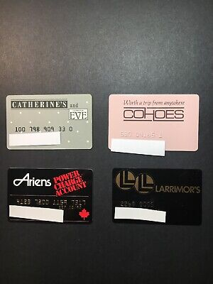 4 Expired Credit Cards For Collectors - Retail Store Lot 19 (3254)