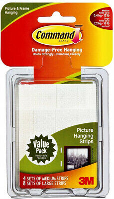 3M Command Picture Hanging Strips – Removable Medium and Large