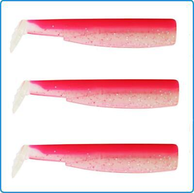 Black Minnow Fiiish Shad 3pz Size N5 160mm Colour Rose Fluo by Red Snapper